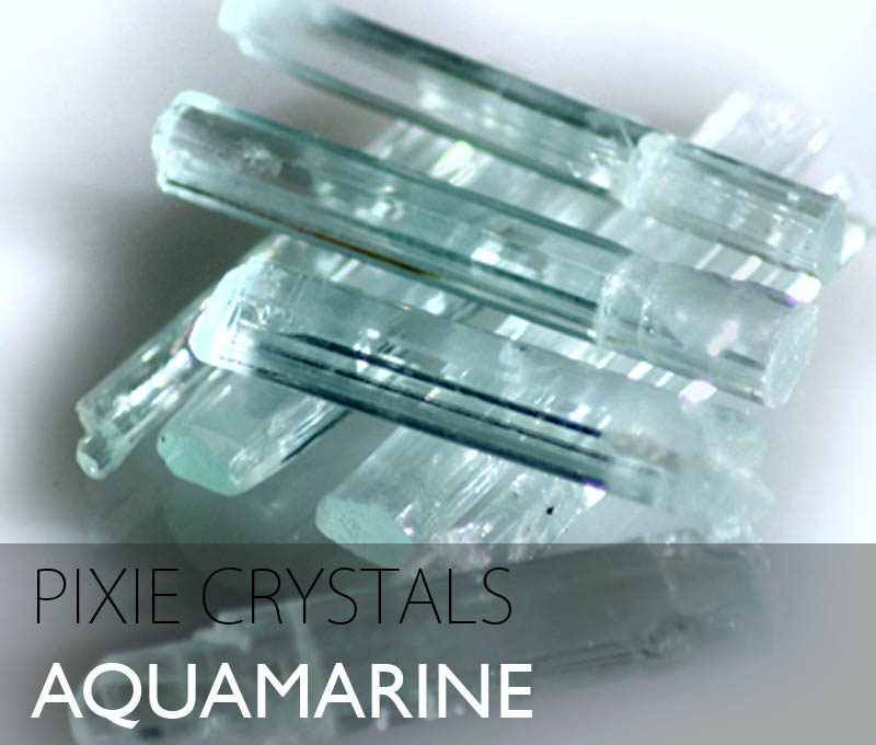 Aquamarine natural point crystals