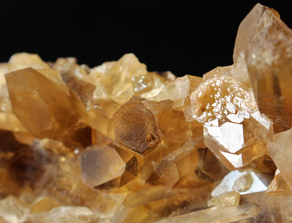 Cluster of Natural Citrine crystals