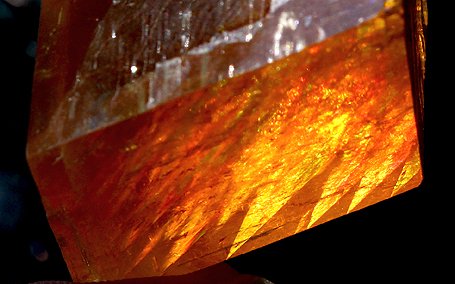 Deep Orange Calcite crystal