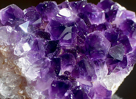 Deep Purple Natural Amethyst Cluster
