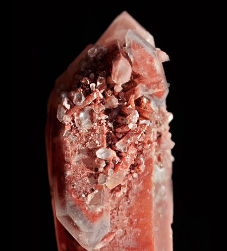 Dramatic Red Clear Quartz cluster