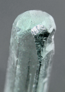 Etched Aquamarine Crystal point