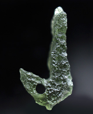 Moldavite J with natural hole