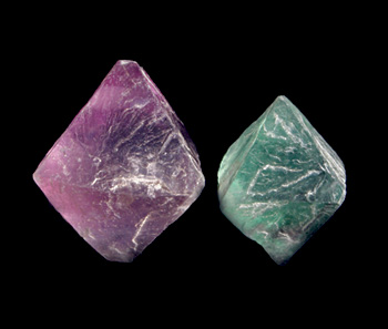 Pair of Fluorite Octahedrons