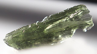 Partially hollow Moldavite