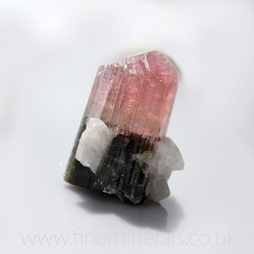 Rare Pink Green Tourmaline Crystal