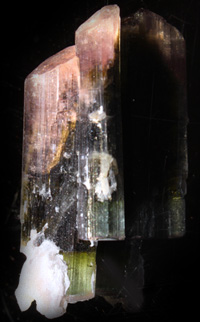 Tourmaline twinned crystals
