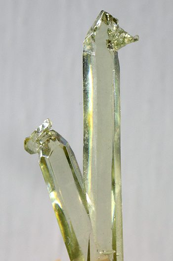 Twin DT Green Zincite gem crystal