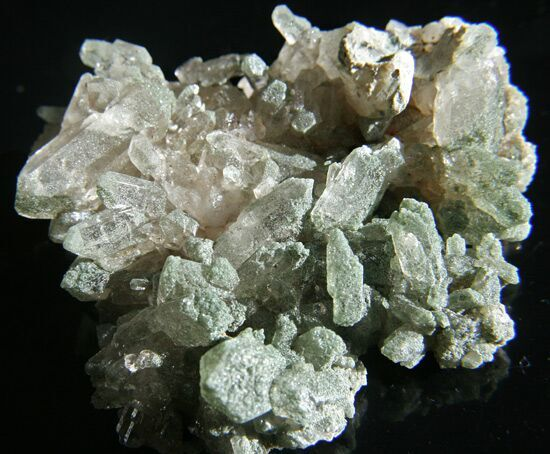 WOW Clear Quartz Chlorite cluster